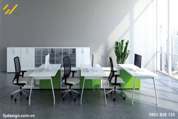 Với 60m2 đủ không gian để setup riêng từng bàn làm việc riêng