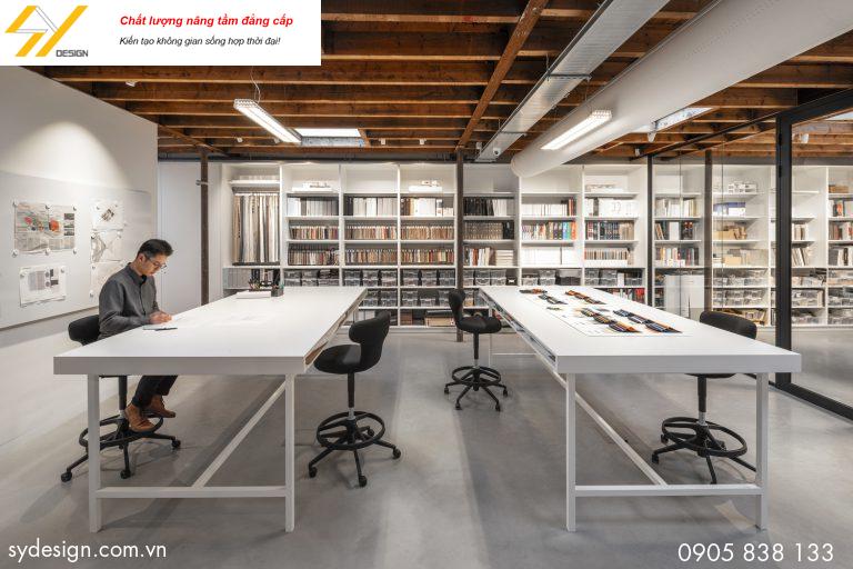Phối cảnh nội thất cho thiết kế văn phòng làm việc