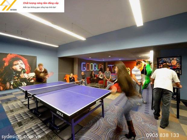 Một số văn phòng được thiết kế một cách giải trí