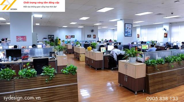 Cây xanh văn phòng còn góp phần cải thiện chất lượng không khí