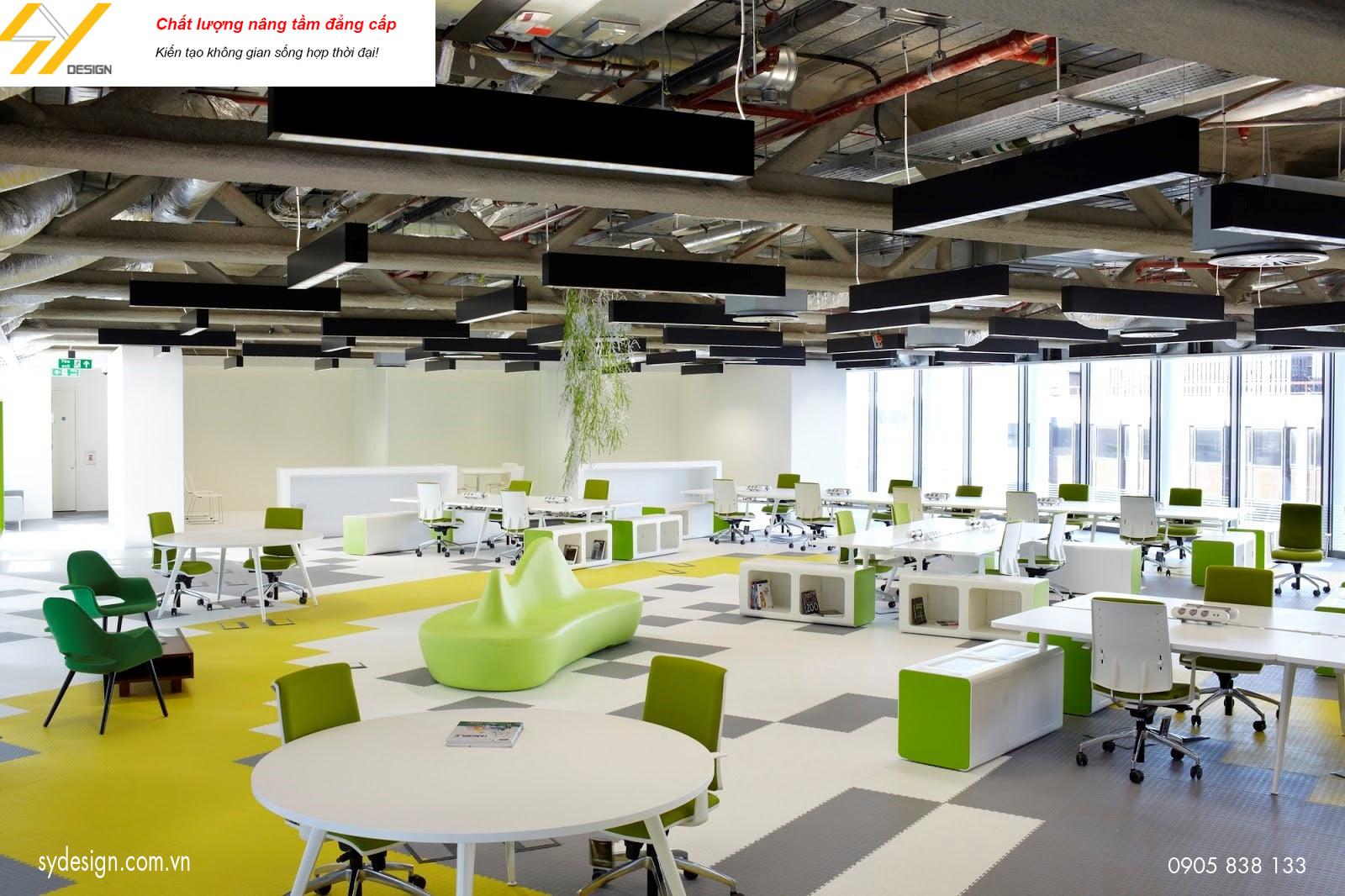 Phong cách thiết kế nội thất văn phòng tiện dụng