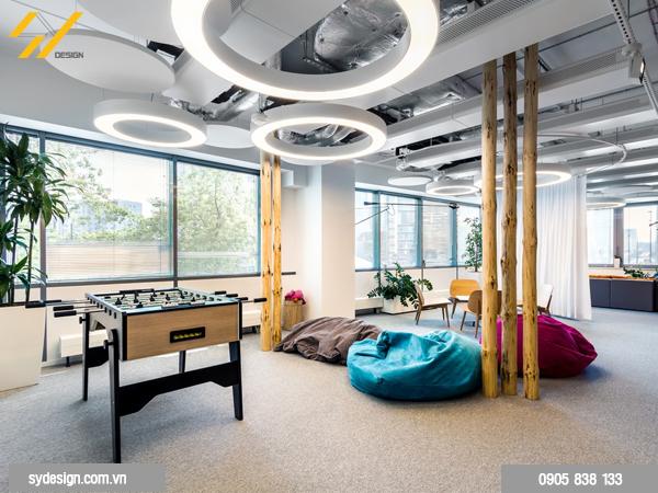 thiết kế khu vực nghỉ ngơi cho nhân viên