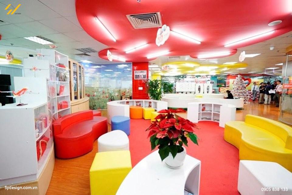 Thi công nội thất văn phòng sáng tạo, thư giãn tại nơi làm việc của VietJet.