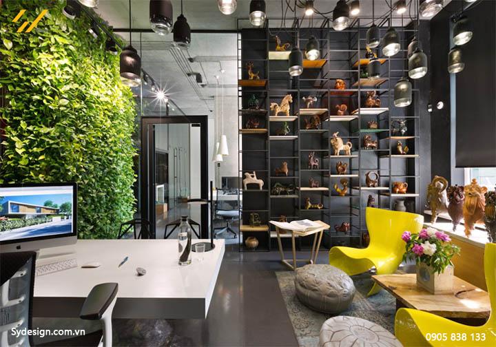 Thiết kế nội thất xanh đem cây xanh vào trong văn phòng