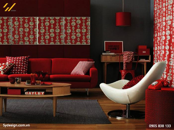 Chọn màu sắc thiết kế nội thất cho người mệnh Hỏa