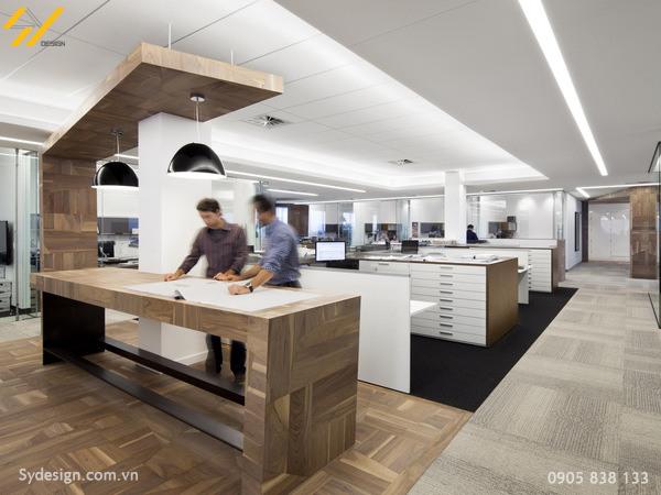 Thiết kế nội thất văn phòng theo không đa năng giúp các phòng ban gần gũi hơn