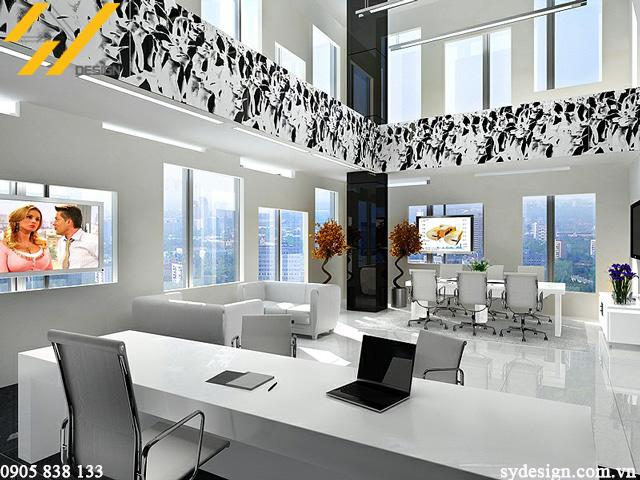 Một mẫu văn phòng được thiết kế đơn giản, hiện đại, linh hoạt