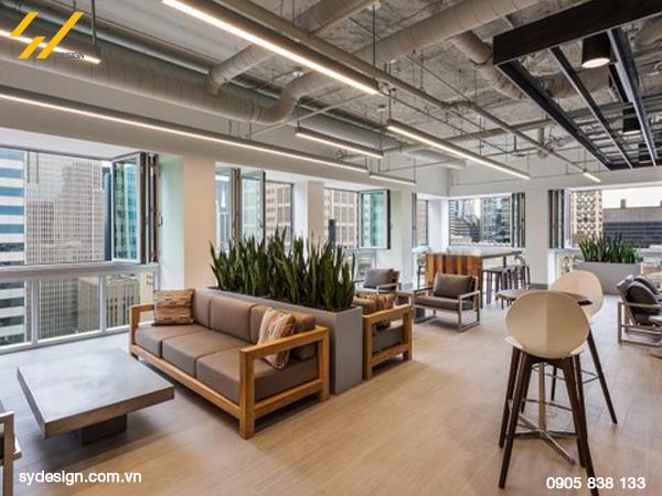 Ngày nay thiết kế nội thất văn phòng hiện đại thường dựa trên lĩnh vực hoạt động của công ty
