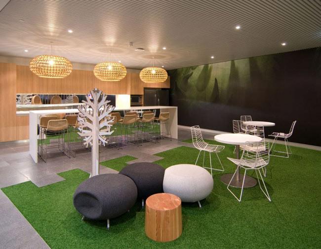 thiết kế nội thất văn phòng cafe
