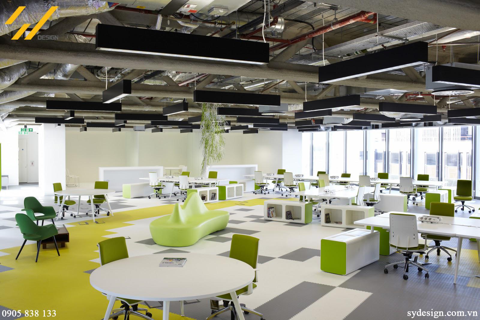 Mẫu 1 thiết kế nội thất văn phòng theo xu hướng mở