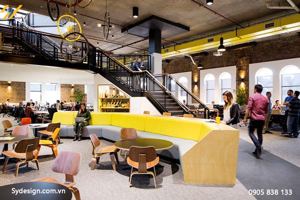 Thiết kế nội thất văn phòng Màu sắc ảnh hưởng rất nhiều đến sự thoải mái của nhân viên