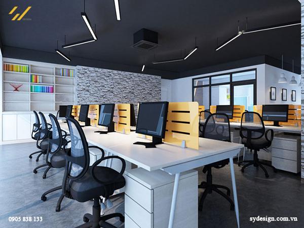 Sắp xếp vị trí ngồi làm việc trên những dãy bàn dài và sát nhau