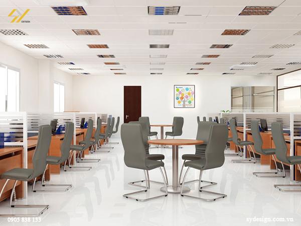 Mẫu thiết kế nội thất văn phòng truyền thống sang trọng