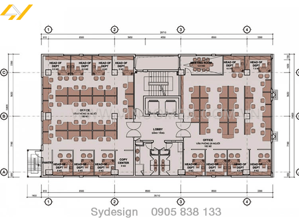 Thiết kế nội thất văn phòng hcm