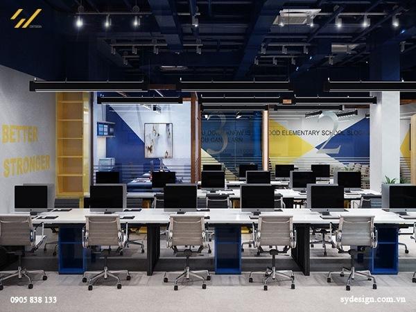 Công trình nội thất văn phòng du học và Anh ngữ Taleed