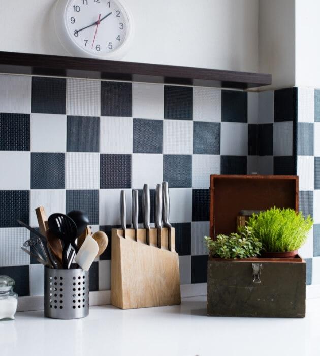Phòng bếp dùng giấy dán tường